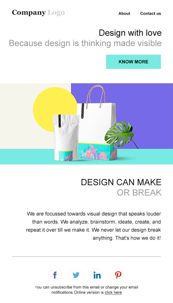 email makarting template