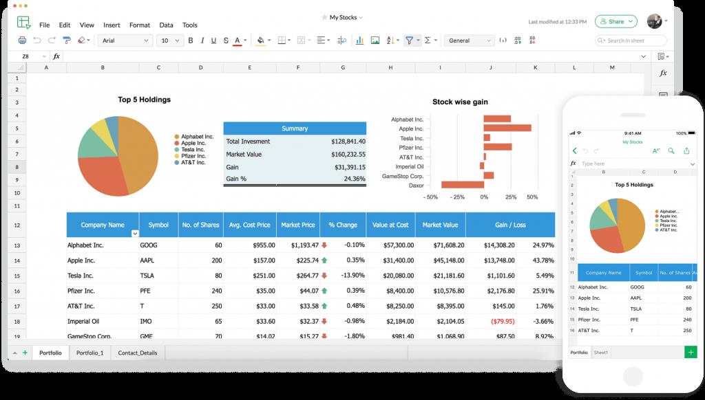 Zoho Sheet - Spreadsheet